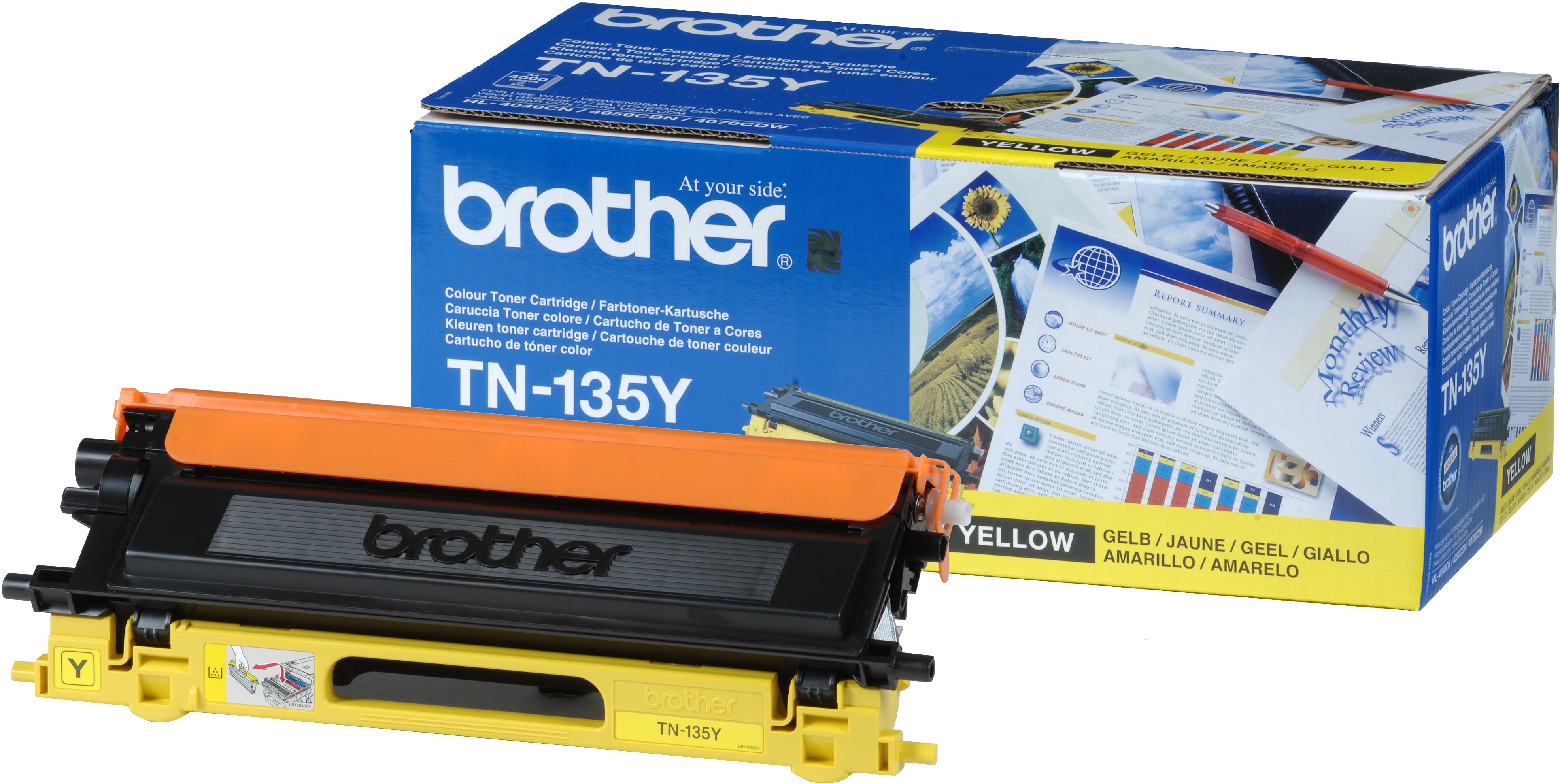 TN-135Y toner geel (4000 afdrukken)