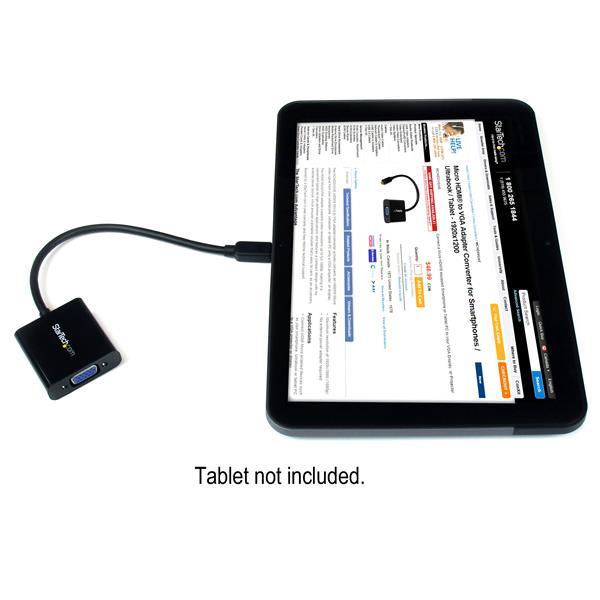Micro HDMI naar VGA Adapter voor smartphones, ultrabooks en tablets (1920 x 1080)