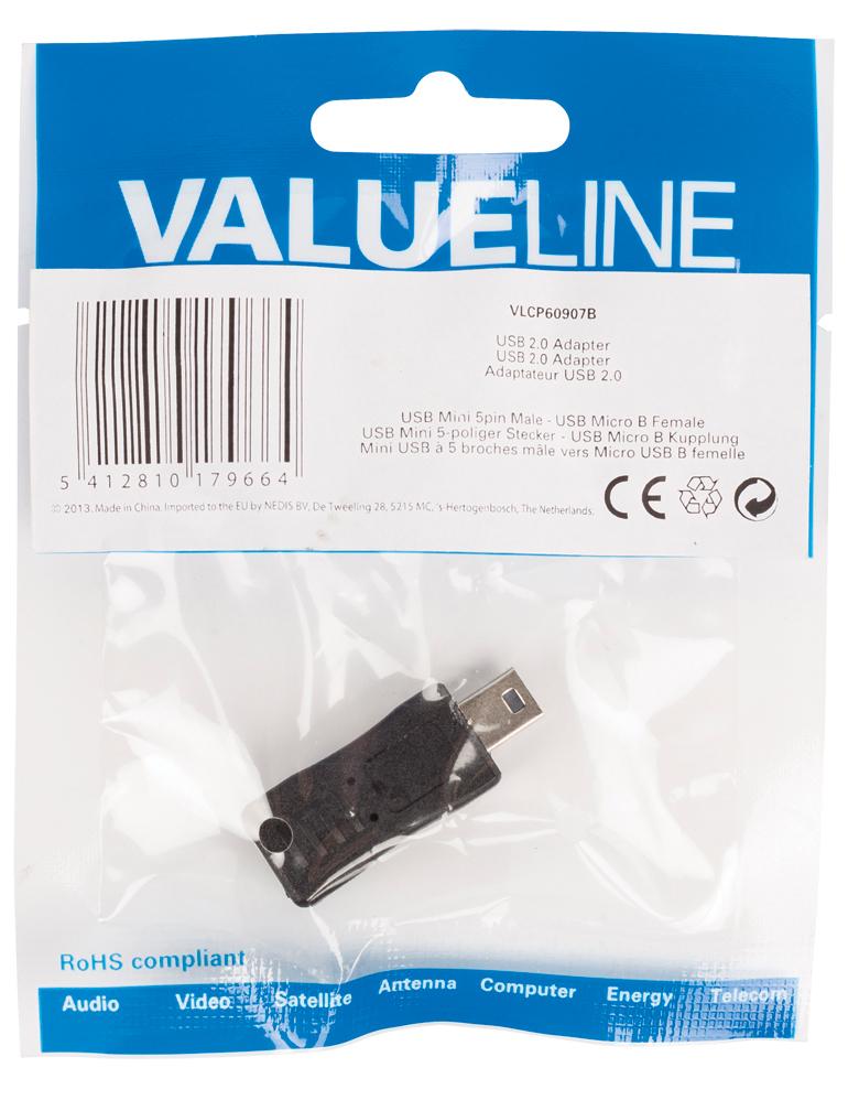 USB 2.0 adapter : mini M naar micro B F