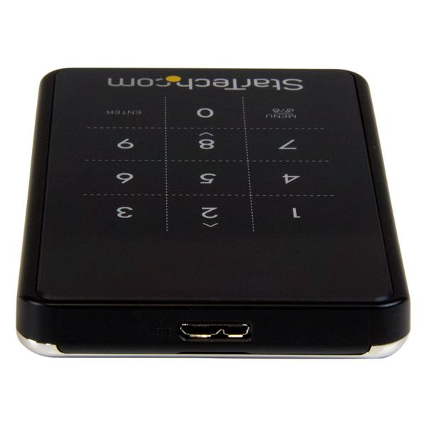 USB 3.0 Encrypted SATA III hard drive enclosure (password protection, AES 256-bit encryption, 6 Gbps)