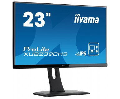 "ProLite XUB2390HS-B1 LED 23"", 1920 x 1080, AH-IPS, 5.000.000:1, 5 ms, HDMI, DVI-D, VGA, speakers, zwart"