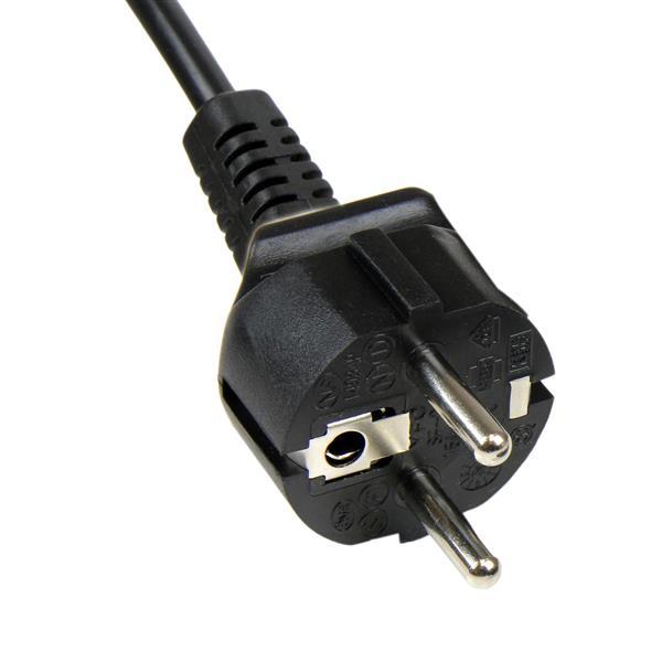Standard laptop voedingskabel EU naar IEC320 C7 (1 meter, zwart)
