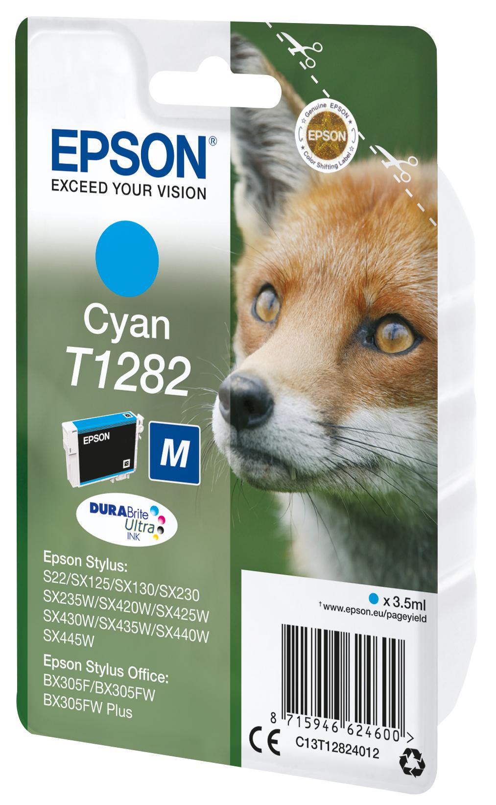 T1282 inkjetcartridge cyaan
