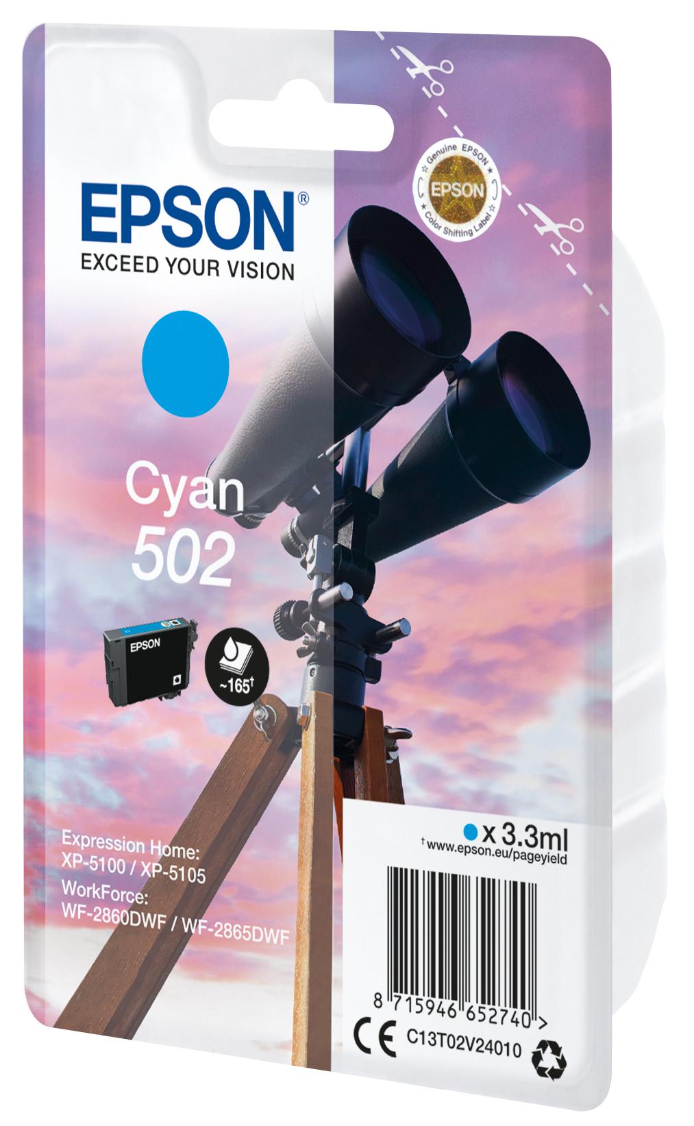 T02V24010 inkjetcartridge 502 cyaan (3,3 ml)