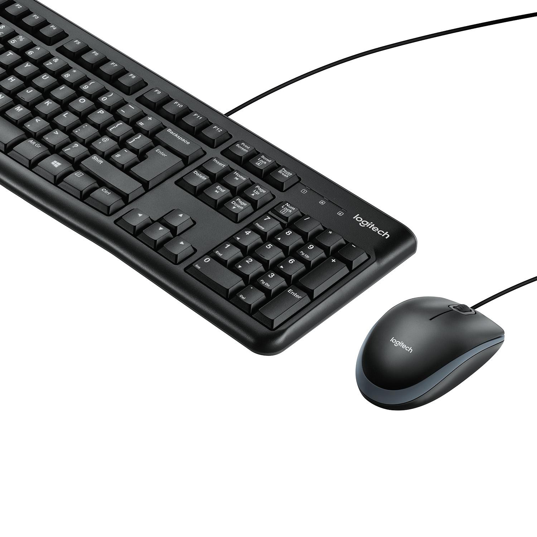 MK120 Desktop (toetsenbord en muis, zwart)