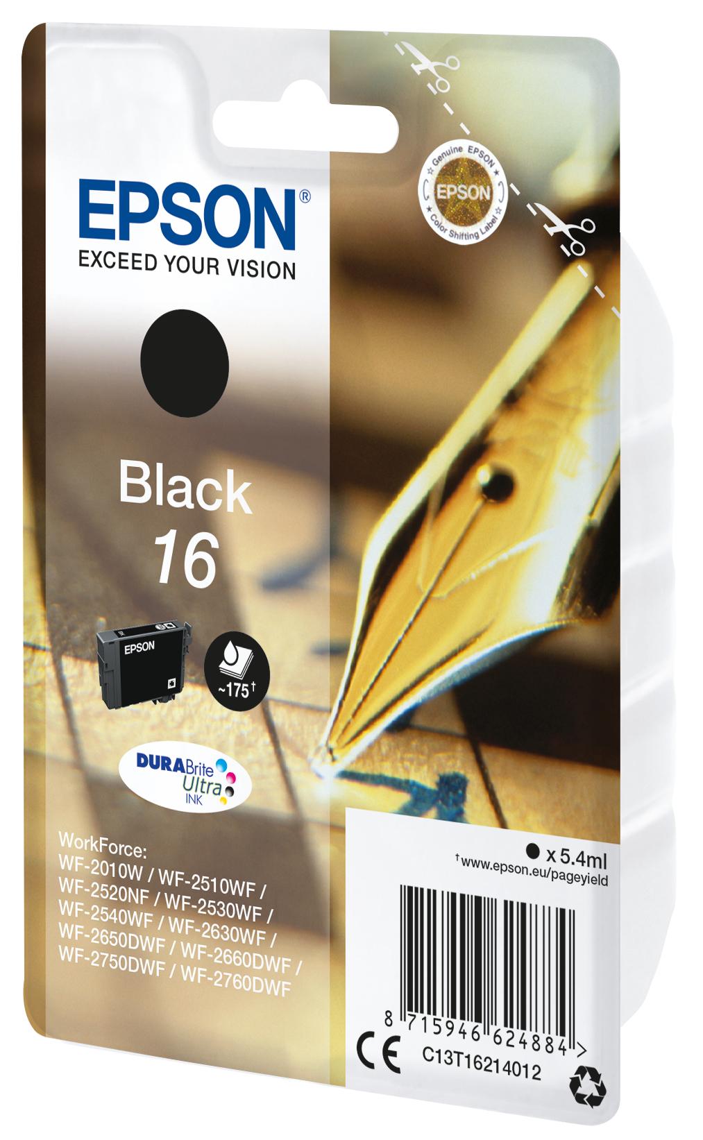 T1621 inkjetcartridge 16 zwart