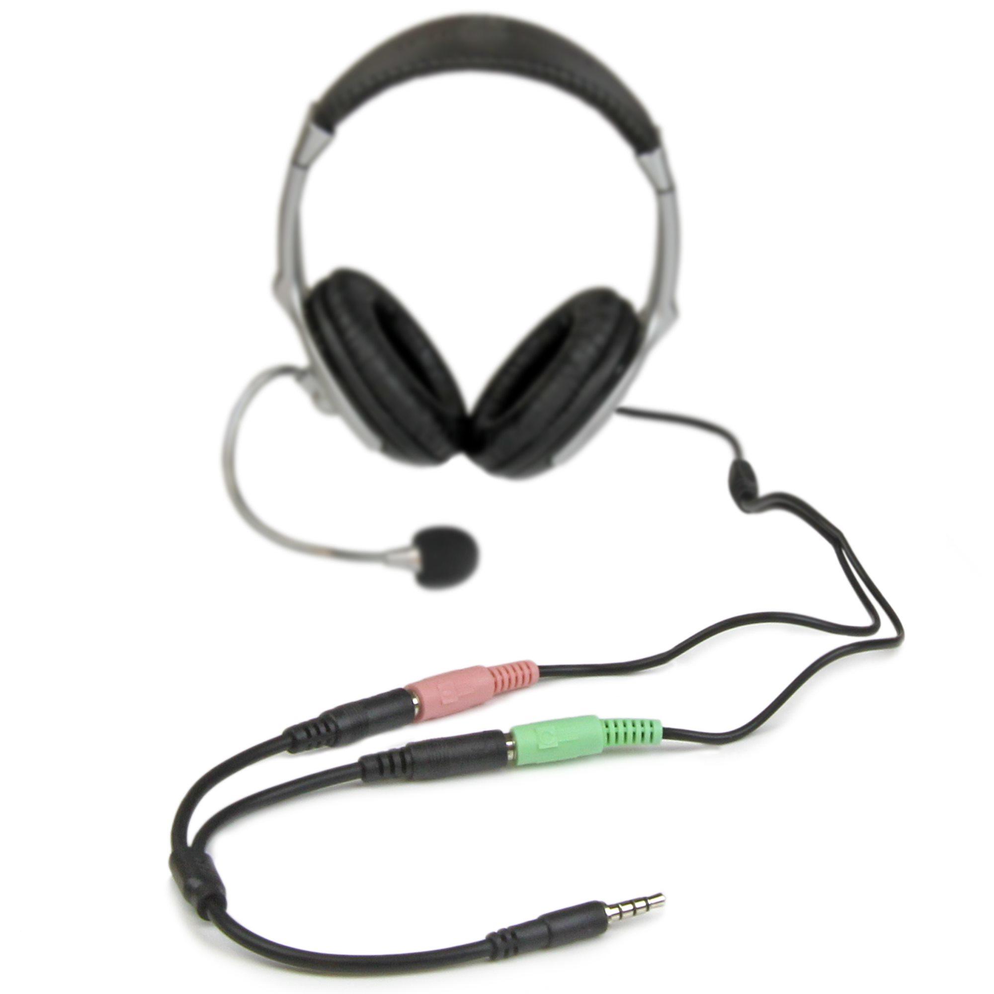 Audiokabels : Headset splitter 3,5 mm naar 2 x 3,5 mm F (4-pin)