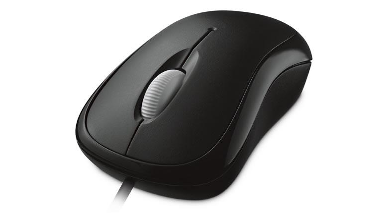 Basic Optical Mouse (USB, zwart)