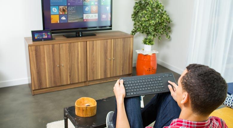 All-in-One Media Keyboard (geïntegreerde multi-touch trackpad, draadloos, Azerty FR)