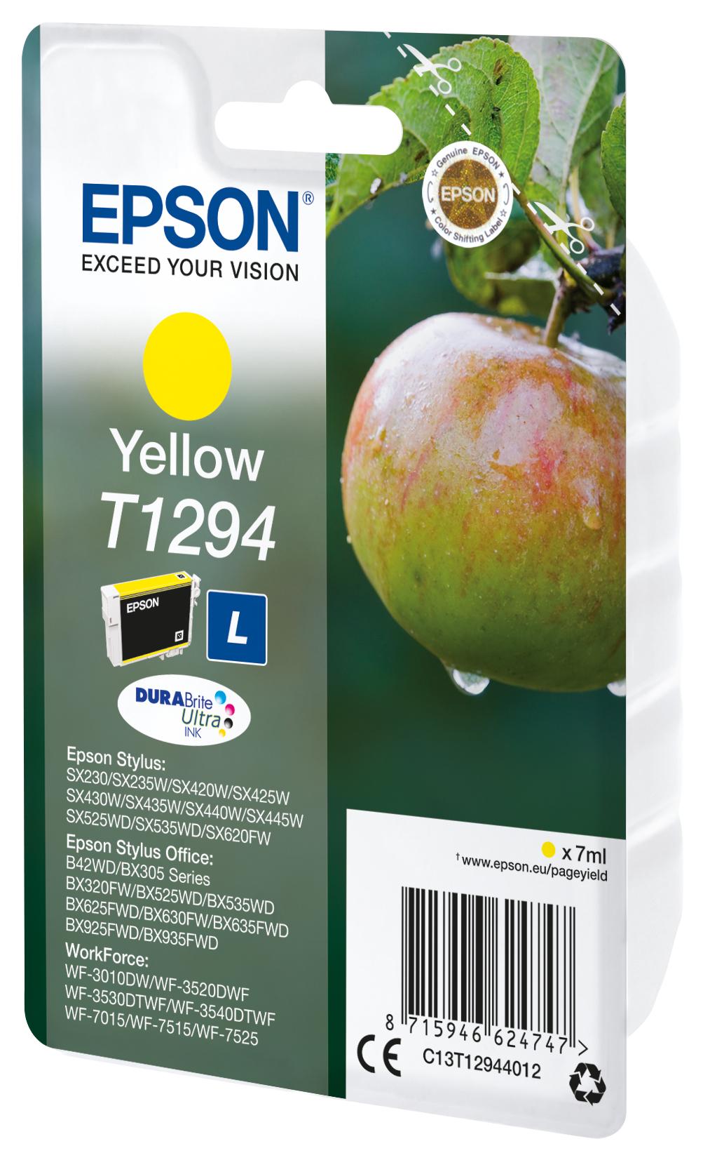 T1294 inkjetcartridge geel (445 afdrukken)