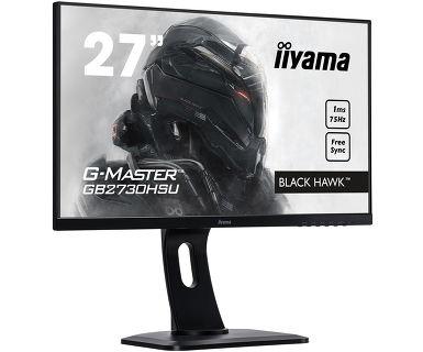 """G-MASTER Black Hawk GB2730HSU-B1 LED 27"""", 1920 x 1080 Full HD, TN, 1000:1, 1 ms, HDMI, VGA, DisplayPort, speakers, zwart"""