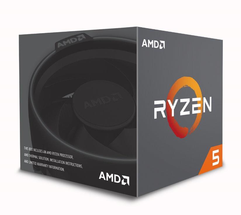 Socket AM4 : Ryzen 5 1600 (65 Watt, 3,2 GHz, 19 MB cache, box)