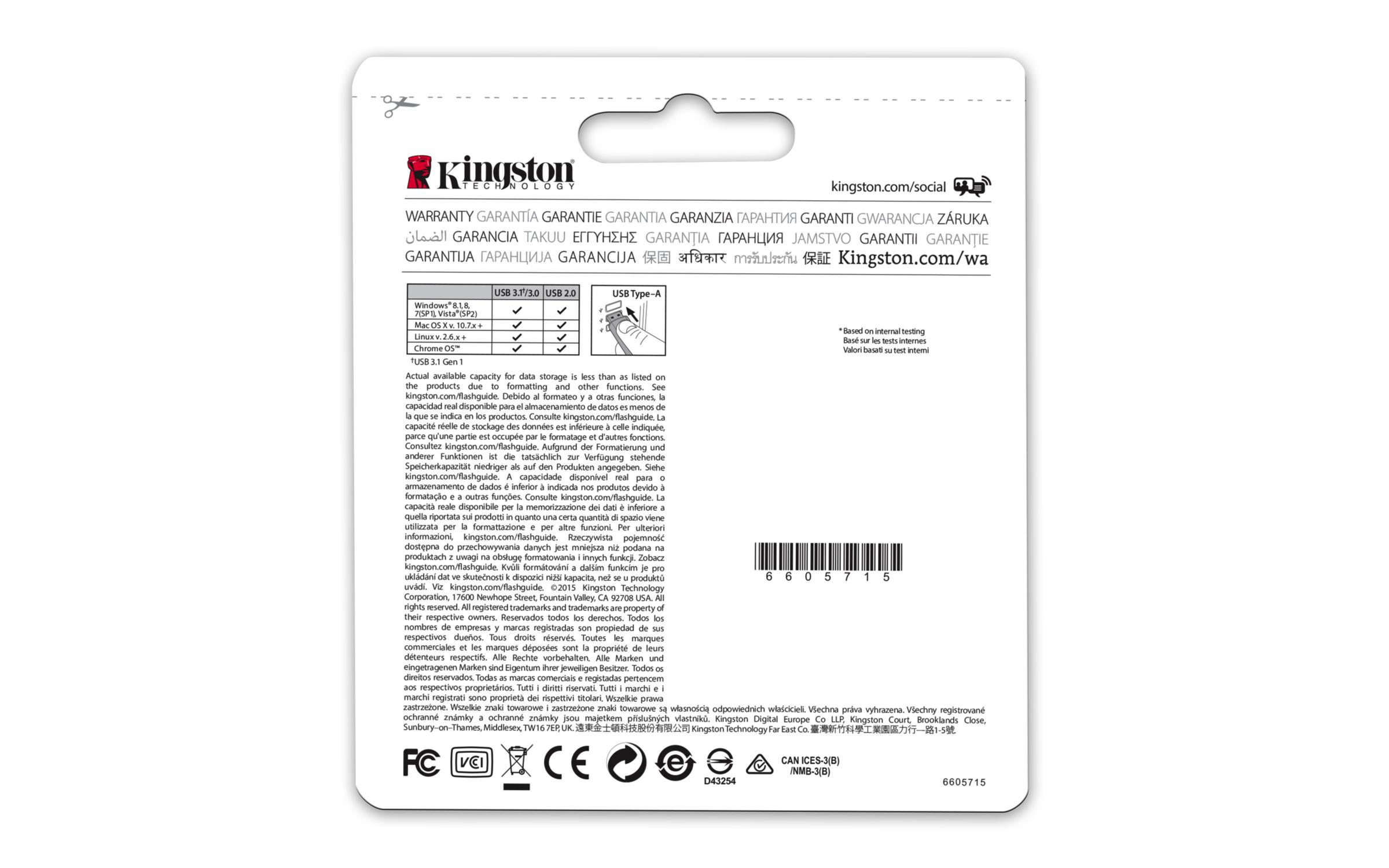 DTMC3/64 GB Micro USB 3.0/3.1 metal ultra-compact flash drive 64 GB