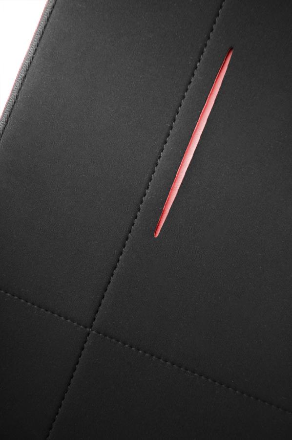 """Airglow LP sleeve (13,3"""", zwart/rood)"""