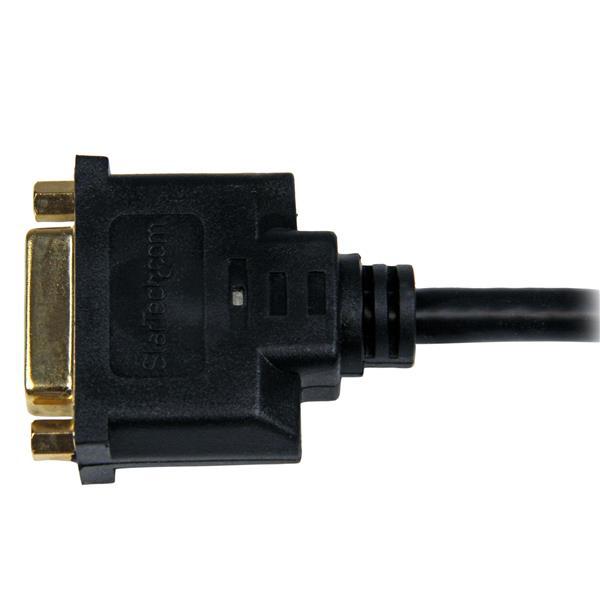 HDMI M naar DVI-D F Adapter (20 cm, zwart)