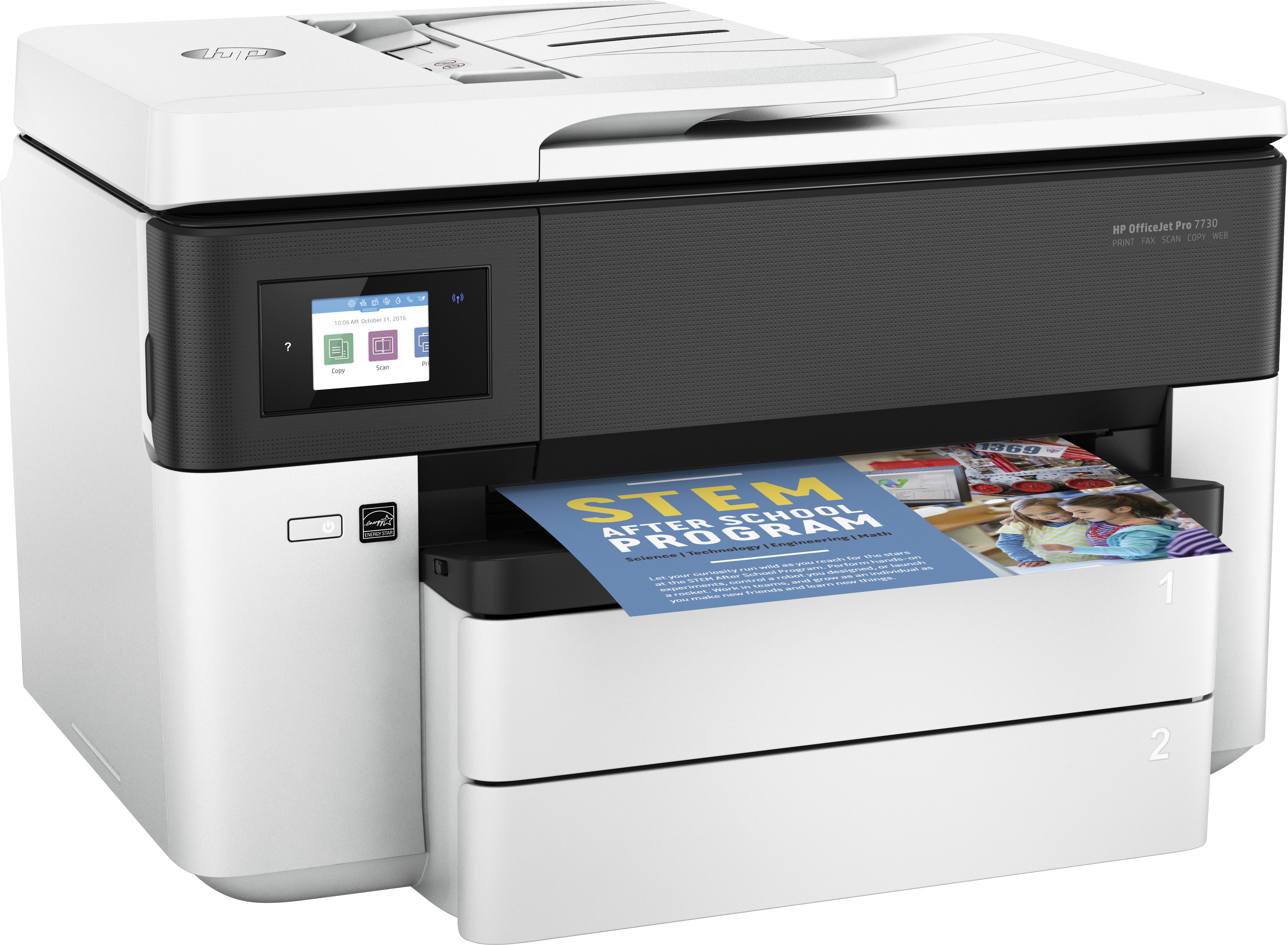 Officejet Pro 7730 Wide Format All-in-One multifunction printer (kleur, A3, 34 ppm, USB 2.0, LAN, Wi-Fi)