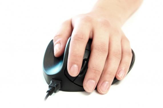 Hippus Mouse Large Left (USB, zwart)