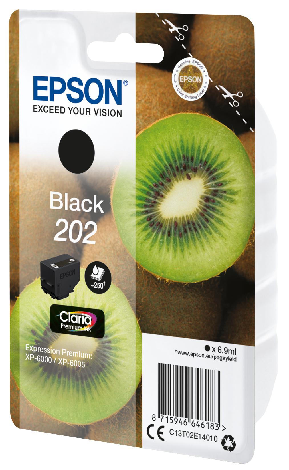 T02E1 inkjetcartridge 202 zwart (6,9 ml)