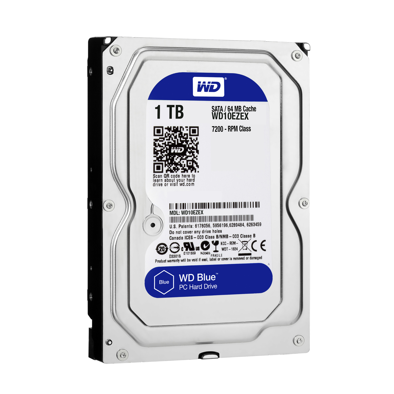 1000 GB WD10EZEX Caviar Blu (SATA, 6 Gbps, 7200 rpm, 64 MB cache)
