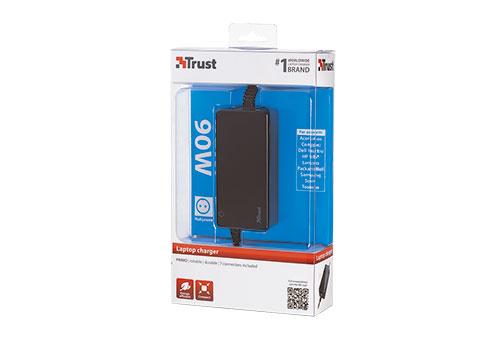90 Watt Primo Laptop Charger (zwart, incl. 7 connectoren)