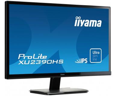 "ProLite XU2390HS-1 LED 23"", 1920 x 1080 FullHD, IPS, 5.000.000:1, 5 ms, HDMI, DVI-D, VGA, speakers, zwart"