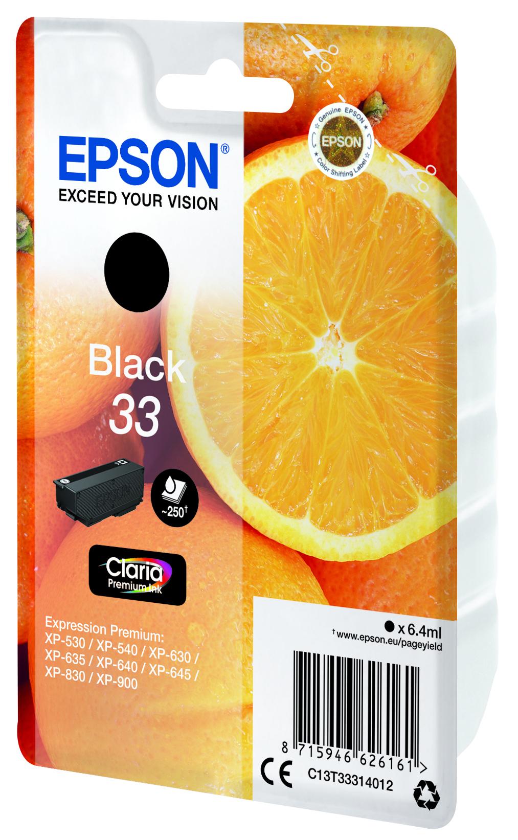 T3331 inkjetcartridge Claria 33 zwart (250 afdrukken)