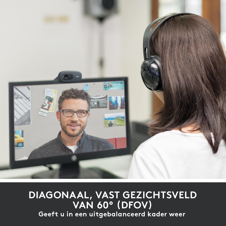 C505 Webcam (720p, fixed focal, audio, USB)