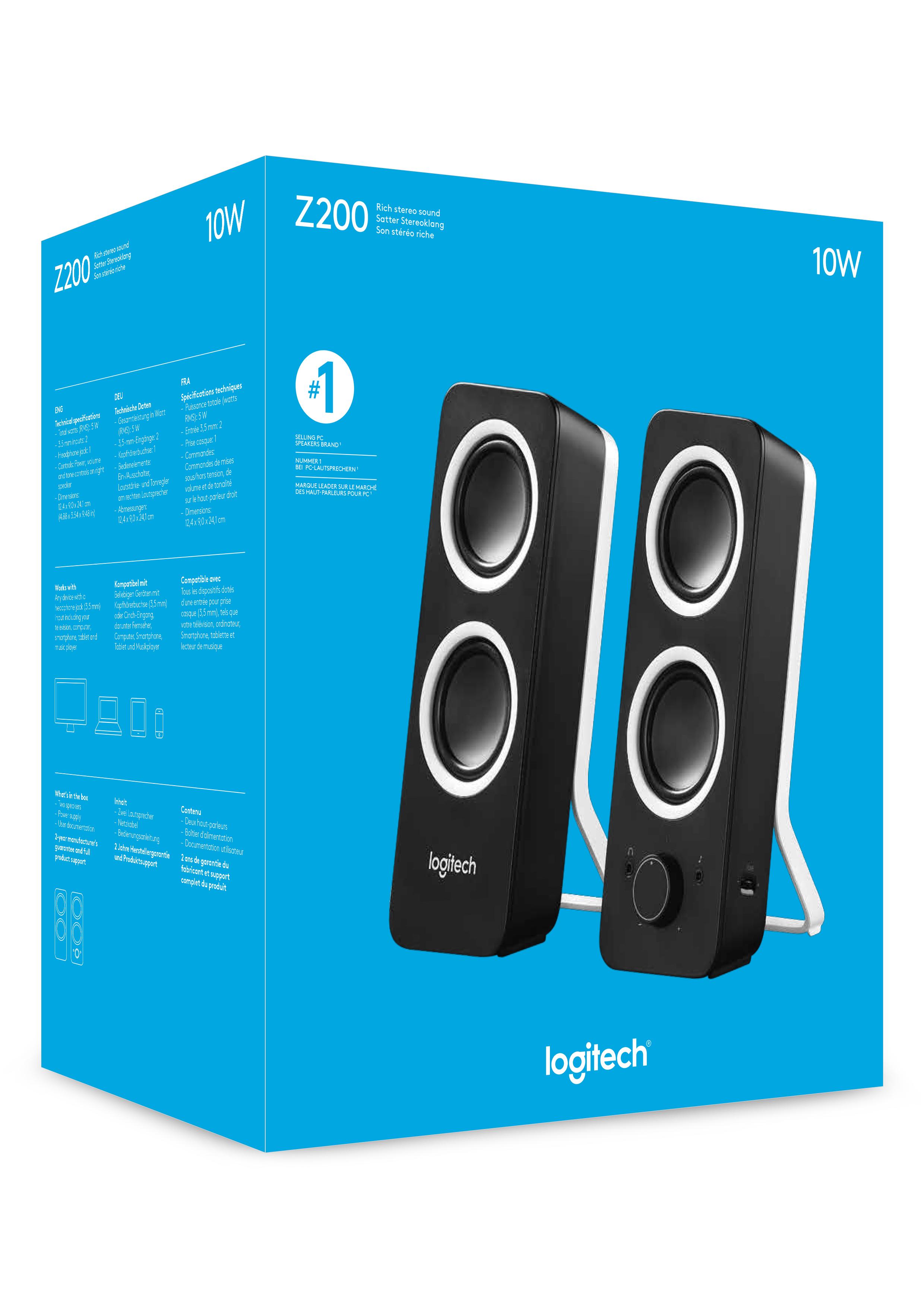 Z200 Speakers (5 Watt RMS, zwart)