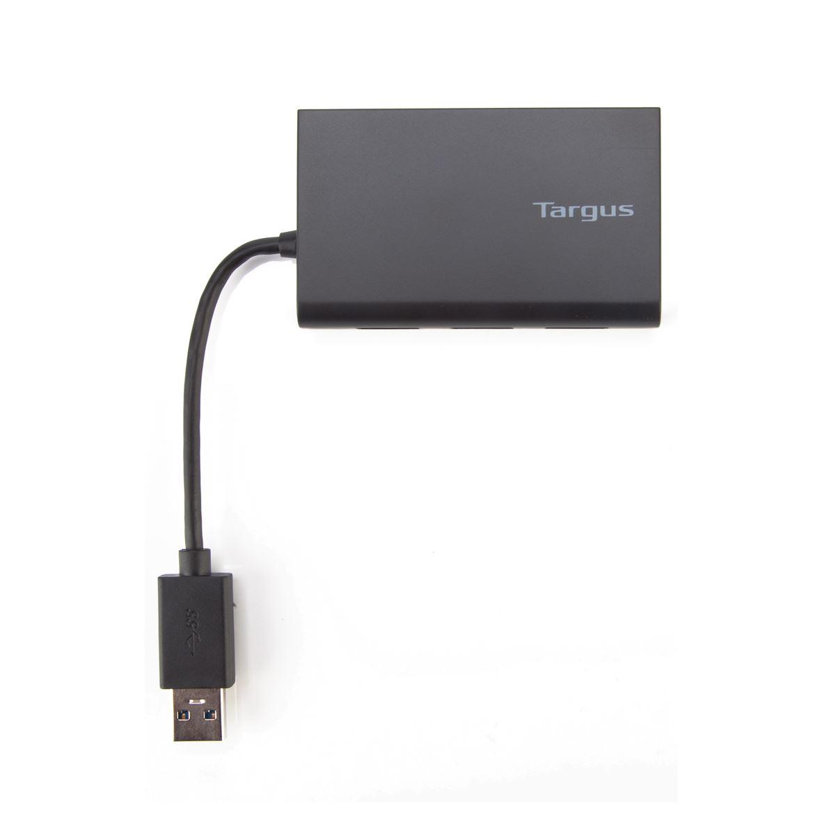 USB 3.0 Hub met Gigabit Ethernet (4 x SuperSpeed USB 3.0 + 1 x 10/100/1000 Mbps LAN)