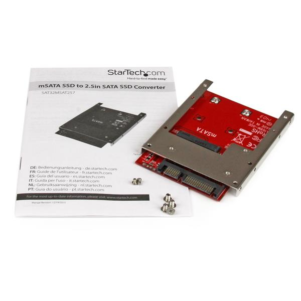 "mSATA SSD naar 2,5"" SATA SSD Converter"