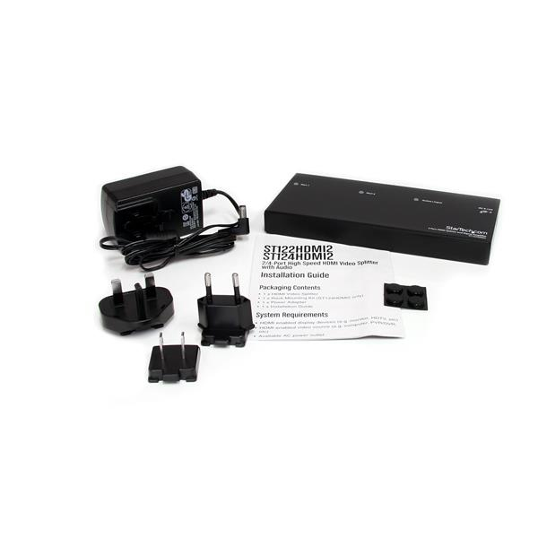 2-poort HDMI 1.3 Audio/Video splitter
